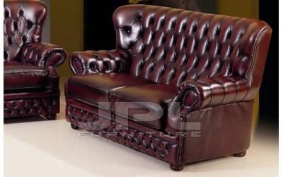 Кожаный диван Vermont двухместный без механизма