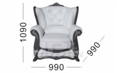 Кожаное кресло Victoria, цвет 86#